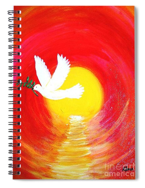 Dove Of Peace Spiral Notebook
