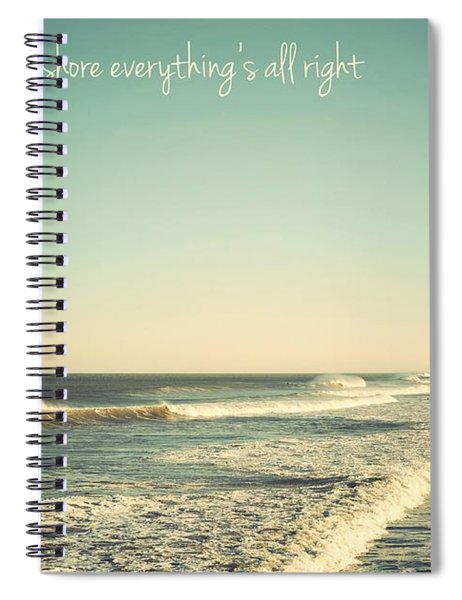 Down The Shore Seaside Heights Vintage Quote Spiral Notebook