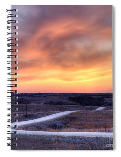 Down To The Rolling Hills Spiral Notebook