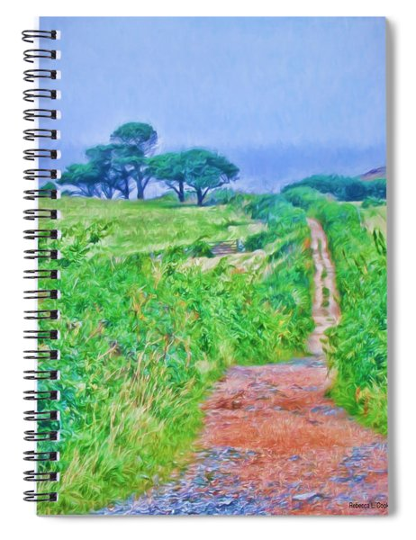 Down To The Sea Herm Island Spiral Notebook