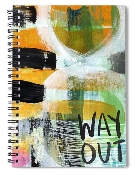 Downtown- Abstract Expressionist Art Spiral Notebook