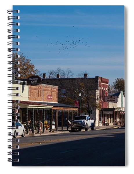 Spiral Notebook featuring the photograph Downtown Boerne by Ed Gleichman