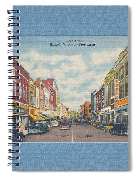 Downtown Bristol Va Tn 1940's Spiral Notebook