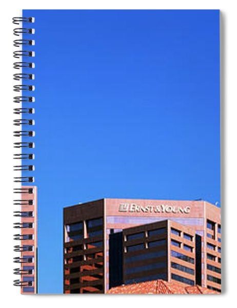 Downtown Buildings Of Phoenix, Maricopa Spiral Notebook