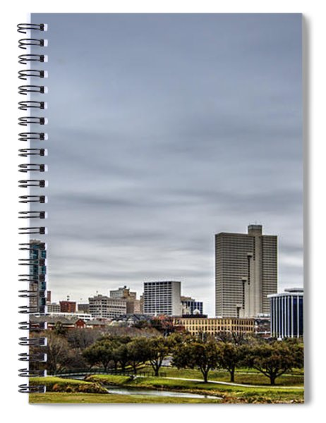 Downtown Fort Worth Trinity Trail Spiral Notebook
