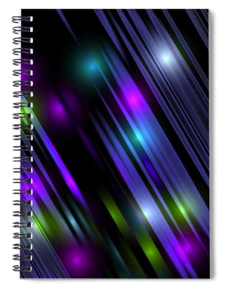 Downtown Rain Spiral Notebook