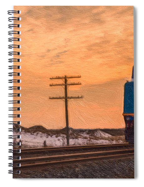 Spiral Notebook featuring the photograph Downtown Train by Garvin Hunter