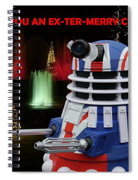 Dr Who - Dalek Christmas Spiral Notebook