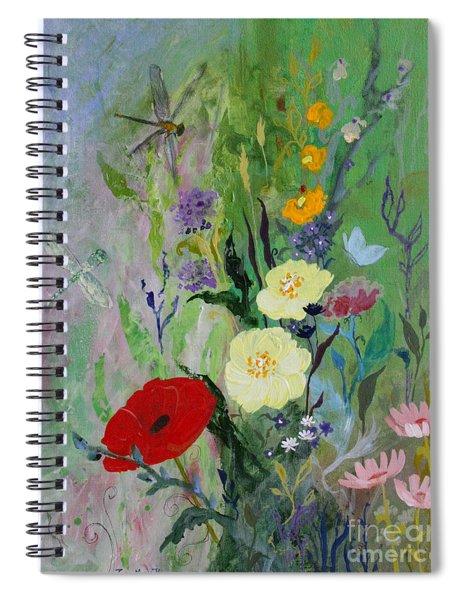 Dragonflies Dancing Spiral Notebook
