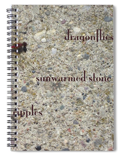 Dragonflies Haiga Spiral Notebook