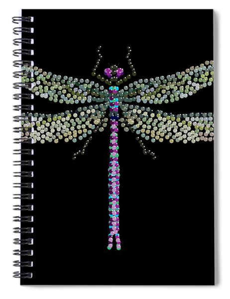 Dragonfly Bedazzled Spiral Notebook