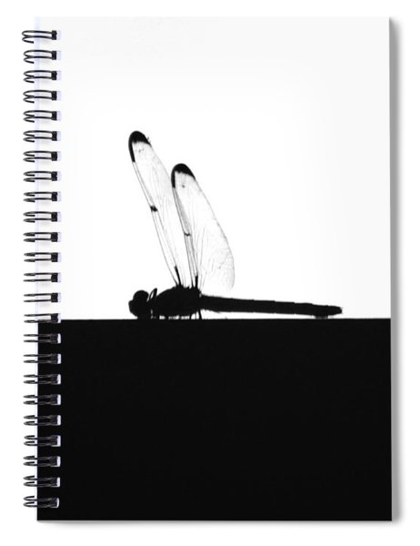 Dragonfly Silhouette Spiral Notebook