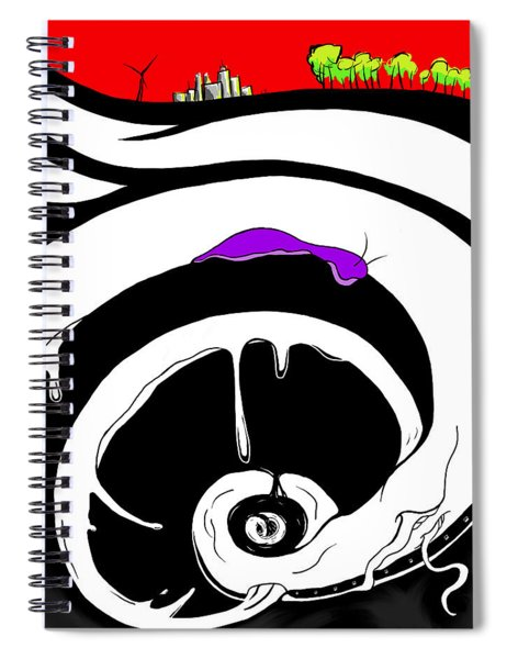 Drained Spiral Notebook