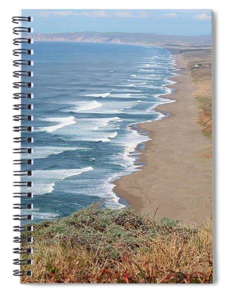 Drakes Beach Close Spiral Notebook