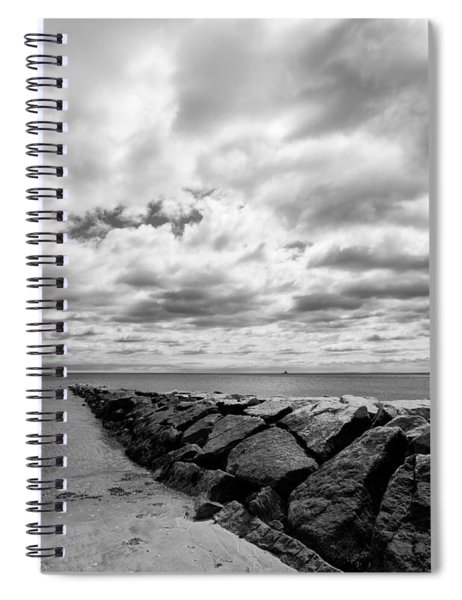 Dramatic Sky At Penfield Jetty Spiral Notebook