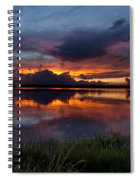 Dramatic Sunset At The Lake Spiral Notebook