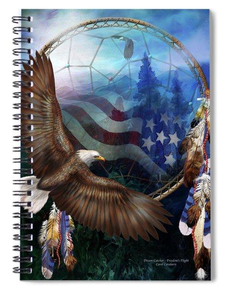 Dream Catcher - Freedom's Flight Spiral Notebook