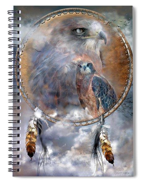 Dream Catcher - Hawk Spirit Spiral Notebook