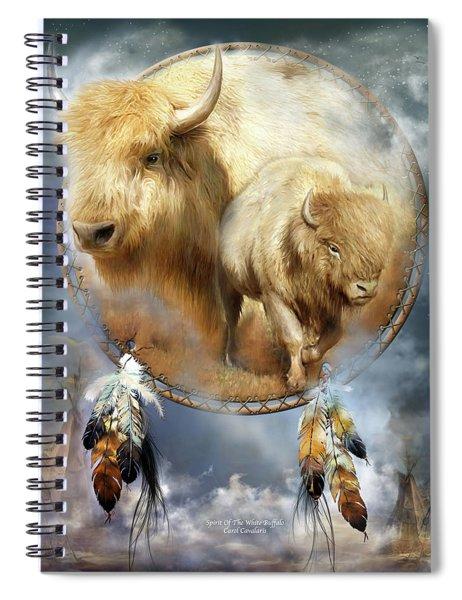 Dream Catcher - Spirit Of The White Buffalo Spiral Notebook