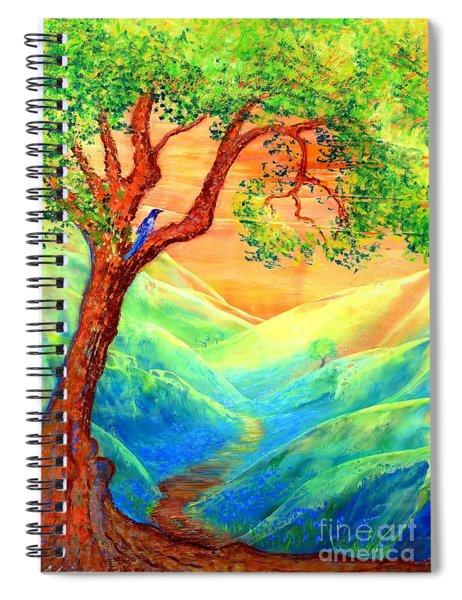 Dreaming Of Bluebells Spiral Notebook