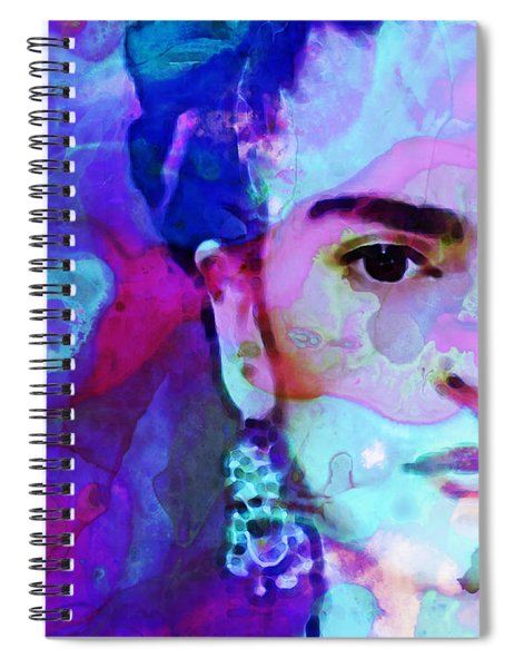 Dreaming Of Frida - Art By Sharon Cummings Spiral Notebook