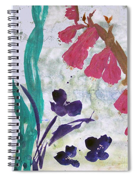 Dreamy Day Flowers Spiral Notebook