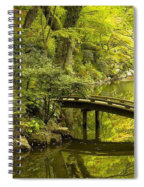 Dreamy Japanese Garden Spiral Notebook