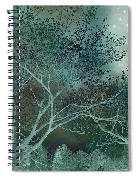 Dreamy Surreal Fantasy Teal Aqua Trees Fairytale Nature  Spiral Notebook