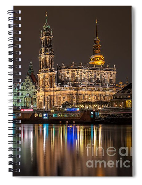 Dresden By Night Spiral Notebook