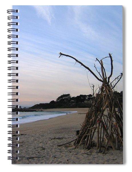 Driftwood Tipi Spiral Notebook