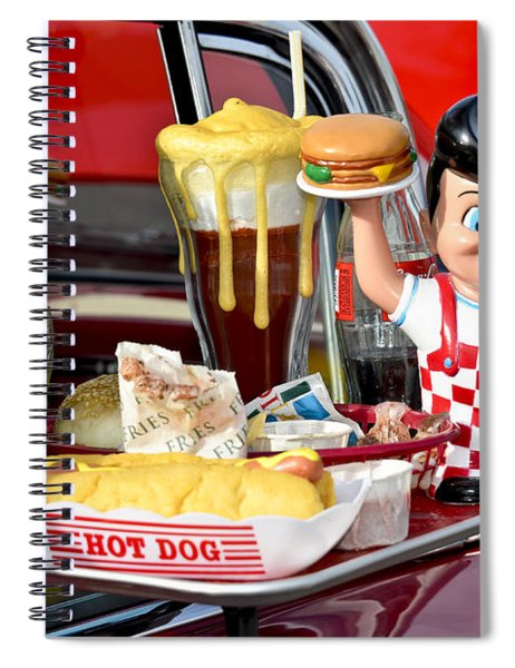 Drive-in Food Classic Spiral Notebook