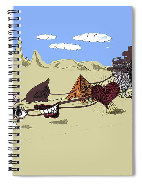 Driving Your Senses Or New Year's Resolutions Spiral Notebook