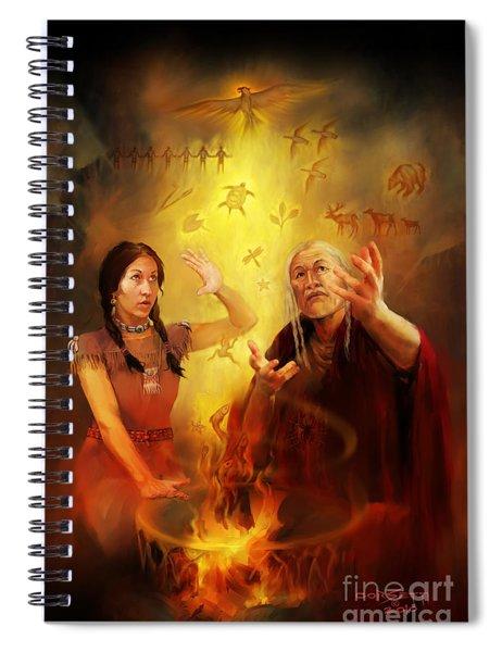 Drum Story Elders Teaching Spiral Notebook