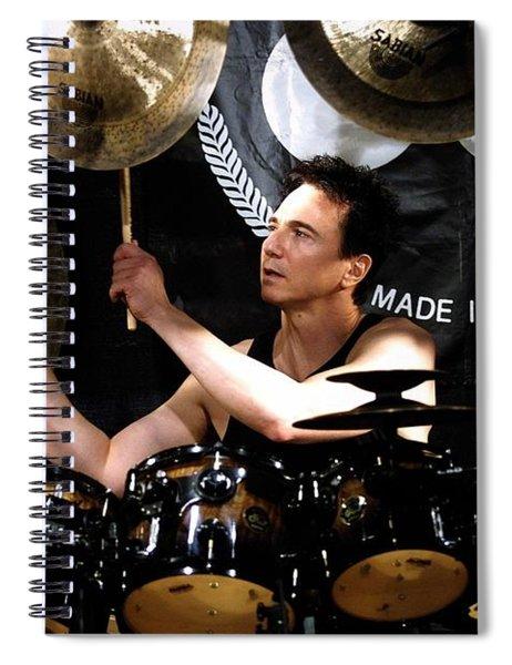 Drummer Terry Bozzio Spiral Notebook