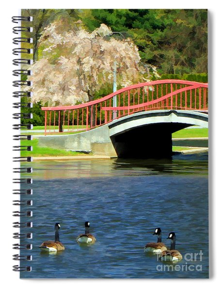Springtime On The Lake Spiral Notebook