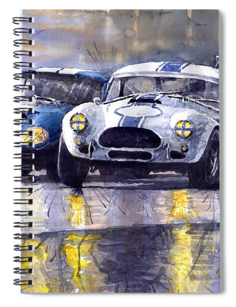 Duel Ac Cobra And Shelby Daytona Coupe 1965 Spiral Notebook