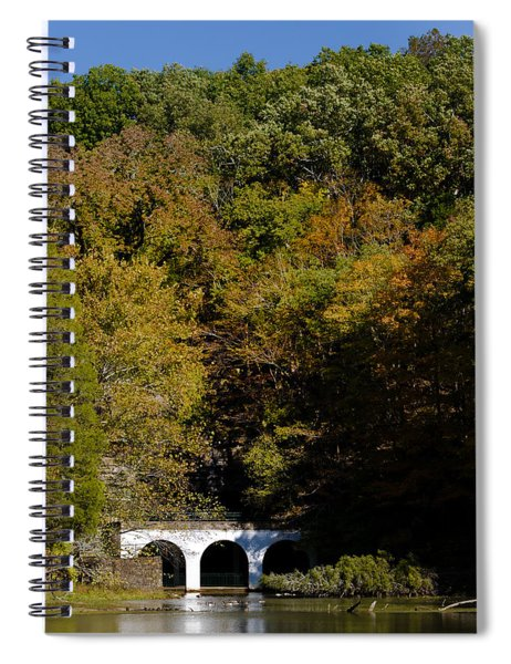 Spiral Notebook featuring the photograph Dunbar Cave And Swan Lake by Ed Gleichman