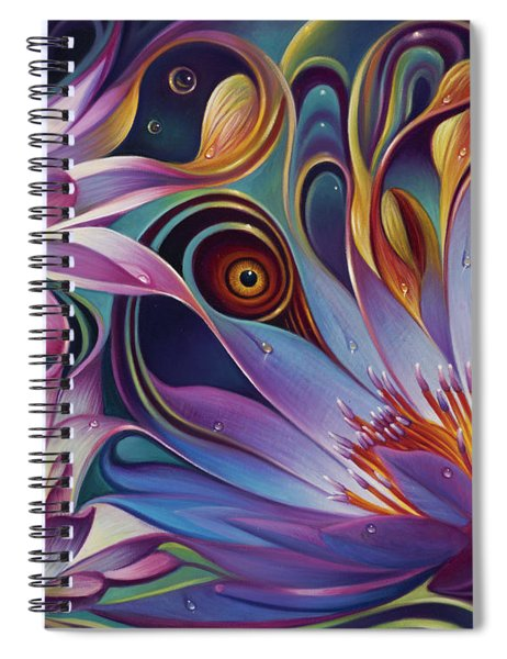 Dynamic Floral Fantasy Spiral Notebook