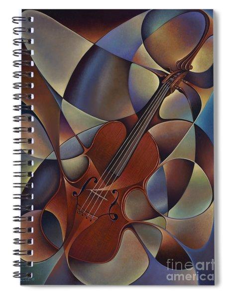 Dynamic Violin Spiral Notebook