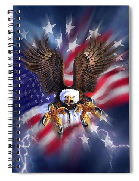Eagle Burst Spiral Notebook