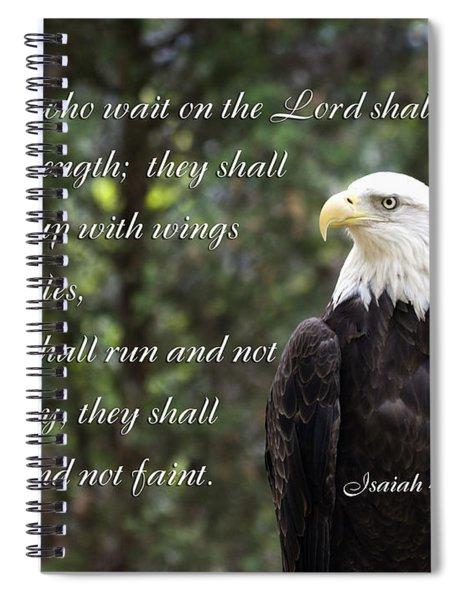 Eagle Scripture Isaiah Spiral Notebook