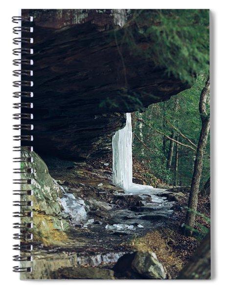 Eaglefalls Trail In Winter Spiral Notebook
