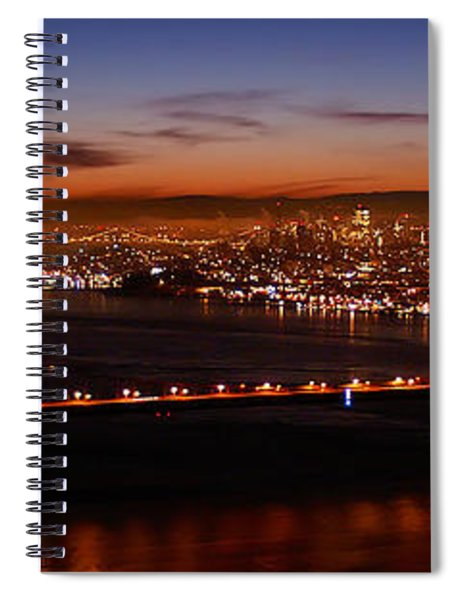 Early December Morning Pano Spiral Notebook