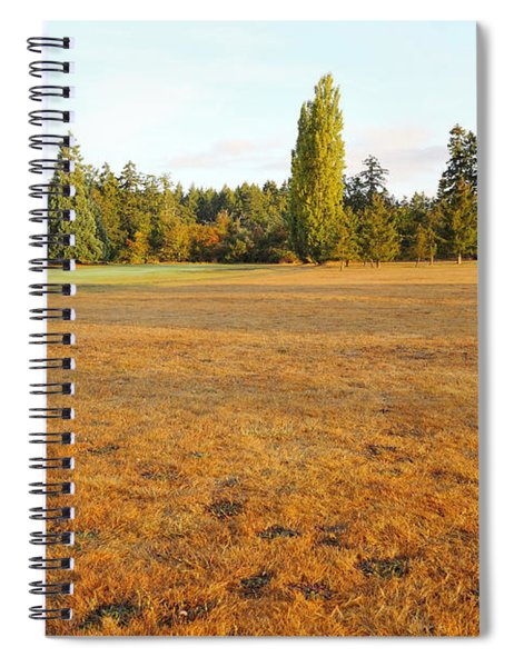 Early Fall Morning In The Rough On The Golf Course Spiral Notebook