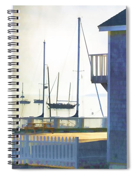 Early Morning Camden Harbor Maine Spiral Notebook