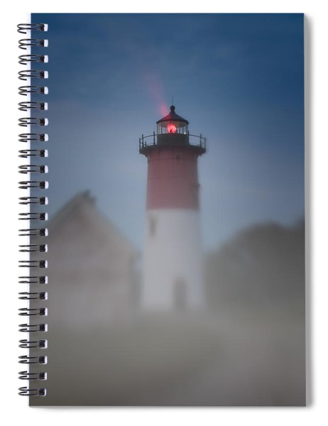 Early Morning Fog At Nauset Lighthouse Spiral Notebook