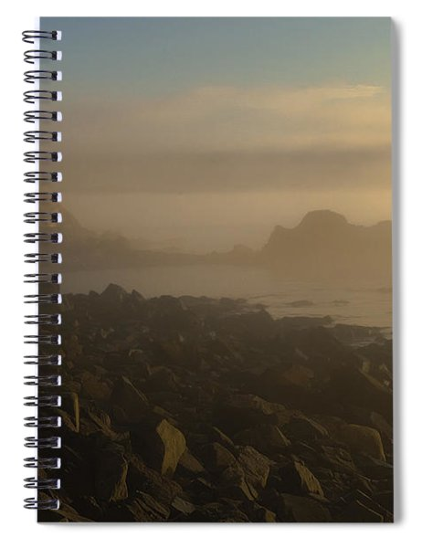 Early Morning Fog At Quoddy Spiral Notebook