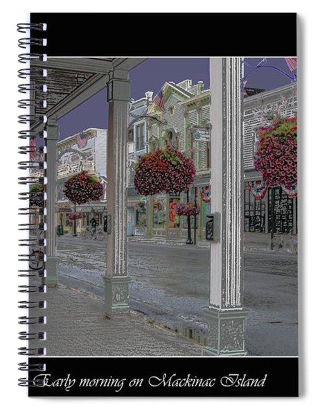 Early Morning On Mackinac Island Spiral Notebook