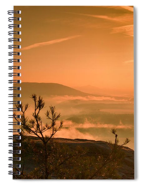 Early Morning On The Lilienstein Spiral Notebook
