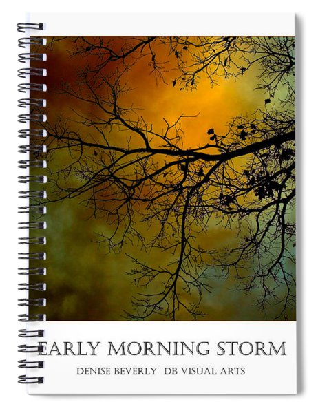 Early Morning Storm Spiral Notebook